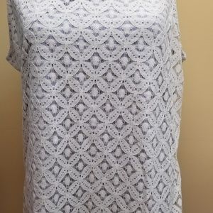 2x Liz Claiborne Pale Lavender Sleeveless Top
